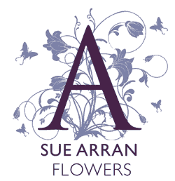 sue arran flowers logo
